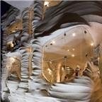 Độc đáo nhà hàng xây bằng muối ở Iran