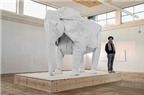 Nghệ thuật gấp voi khổng lồ bằng...1 tờ giấy