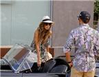 Nicole Scherzinger cùng bạn trai đi dạo bằng siêu xe