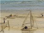 Ngạc nhiên thích thú với nghệ thuật 3D trên cát
