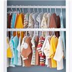 Mẹo sắp xếp gọn gàng cho tủ quần áo của bé
