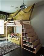 Bài trí nội thất nhà chật tạo góc riêng cho bé