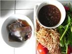 Canh chua cá đuối với rau bắp chuối