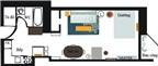Học cách bài trí thông minh từ căn hộ chữ nhật 41m²