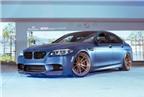 BMW M5 F10 xanh nhám đẹp hút hồn với mâm ADV1 màu đồng
