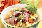 10 món ăn chữa rối loạn tiểu tiện sau sinh