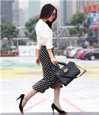 Trắng và đen là cách mặc đẹp đơn giản nhất