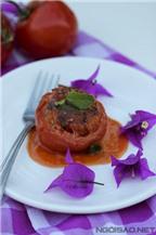 Cà chua nhồi tôm thịt ngon cơm