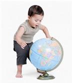 Dạy con thông minh với quả địa cầu