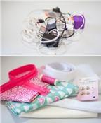 Cách làm túi đựng dây sạc siêu tiện lợi cho bạn thích du lịch