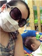 Mẹ Ninja chăm con thời đau mắt đỏ