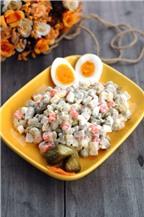 Mẹ Đậu chia sẻ cách làm salad Nga cực ngon!