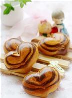 Cách làm bánh mì nhân ca cao hình trái tim xinh yêu tặng nàng 20/10