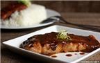 Cá hồi sốt teriyaki ngon cơm