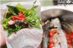 Cách làm cá nục hấp ăn chung với bánh tráng