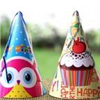 Cách làm mũ chóp sinh nhật ngộ nghĩnh cho bé