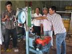 3 thanh niên chế tạo thành công máy kéo câu cho ngư dân