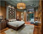 Phòng ngủ độc đáo mang phong cách Á Đông