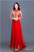 Áo dài cách tân theo phom váy cưới điệu đà
