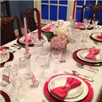 Gợi ý trang trí bàn tiệc Valentine đẹp lung linh
