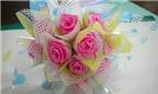 Mách bạn cách làm hoa hồng Valentine tuyệt đẹp bằng ruy băng