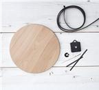 """Đồng hồ gỗ theo phong cách """"tối giản"""" được làm từ cái thớt"""
