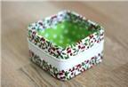 Biến vỏ hộp cũ thành khay để đồ thật phong cách!