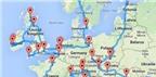 Dùng ngôn ngữ lập trình lên kế hoạch du lịch xuyên châu Âu