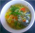 Canh chua cá trắm nấu giá
