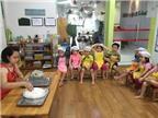 Thích thú lớp học làm bánh trôi Tết Hàn Thực của trẻ mầm non