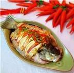 Ngon bất ngờ cá hấp thịt xông khói