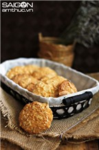 Bí quyết làm bánh quy dừa hạnh nhân thơm giòn