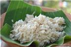 Cốm dẹp - đặc sản dẻo thơm của người Khmer