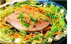 Cá điêu hồng hấp xì dầu nhẹ nhàng ngày nóng