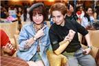 Chi Pu kề sát môi Gil Lê trong buổi họp fan