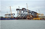Đóng thành công chân đế giàn khoan nặng 6.600 tấn