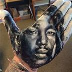 Những tác phẩm nghệ thuật độc đáo được vẽ trên... lòng bàn tay