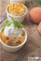 Bánh mì pudding đào thơm phức hấp dẫn