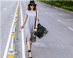 Diệp Lâm Anh khoe phong cách dạo phố