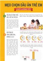 Mẹo chọn dầu ăn trẻ em chất lượng tốt.