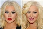 Kinh ngạc với gương mặt khác lạ của Christina Aguilera
