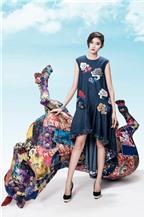 Kim Nhung đa phong cách với chất liệu gấm và denim