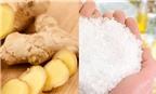 Cách làm kem tẩy tế bào chết từ gừng và muối