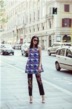 Dàn mẫu Việt khoe phong cách dạo phố ở Italy