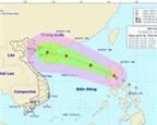 Bão số 4 cách quần đảo Hoàng Sa khoảng 700km