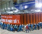 Hạ đặt thành công rotor 1.000 tấn tại thủy điện Lai Châu