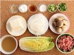 Miến nấu thịt, nấm rơm thơm ngon