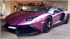 Siêu xe Lamborghini Aventador màu tím độc đáo của ông chủ Ả-Rập