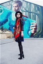 Cách mix trang phục đẹp với áo khoác da