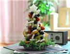 2 cách làm cây thông Noel sắc màu từ trái cây thật hấp dẫn